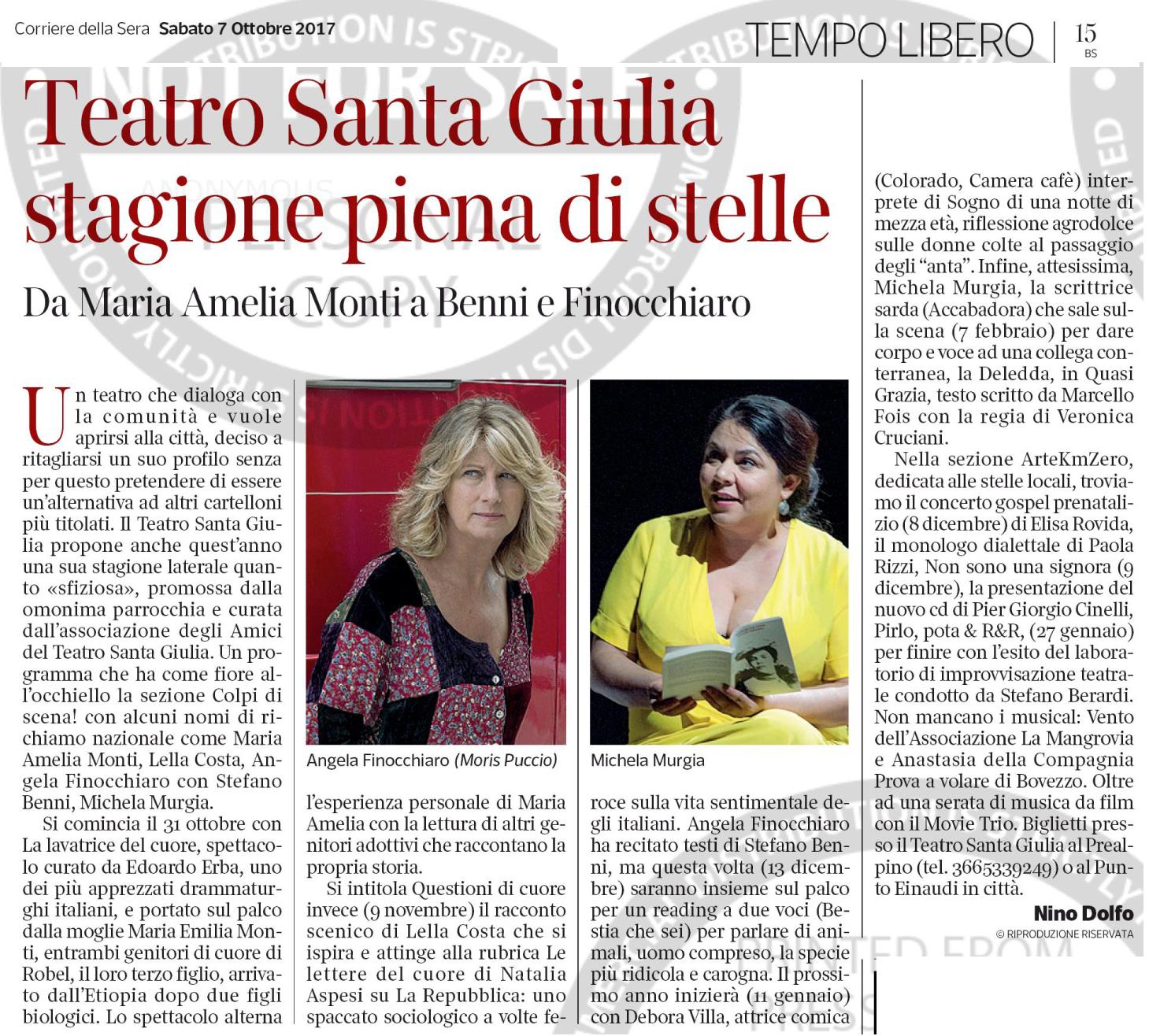 Corriere della Sera (Brescia) 7 ottobre 2017