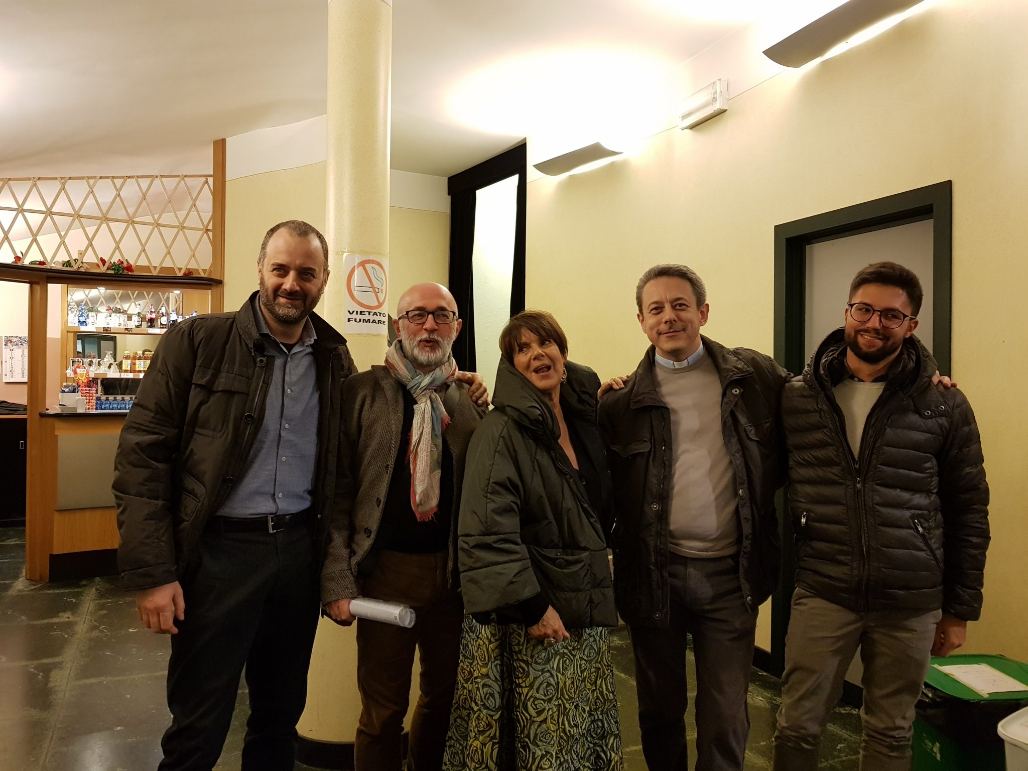 Lo staff con Lella Costa- 9/11/2017
