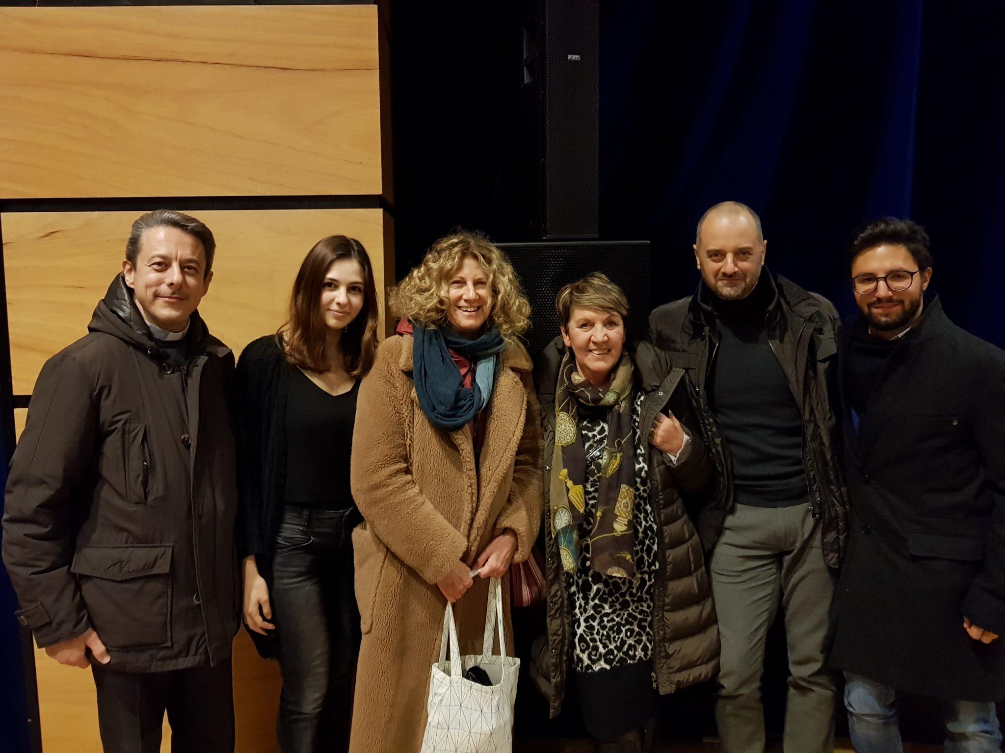 Lo staff con Angela Finocchiaro 13/12/17