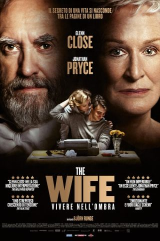 "Poster for the movie ""The Wife - Vivere nell'ombra"""