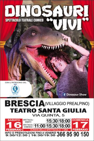 Dinosaur Show Live Experience @ Teatro S. Giulia | Brescia | Lombardia | Italia