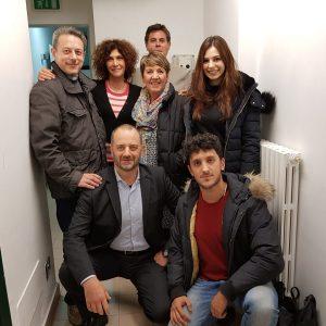 Lo staff con Maria Amelia Monti