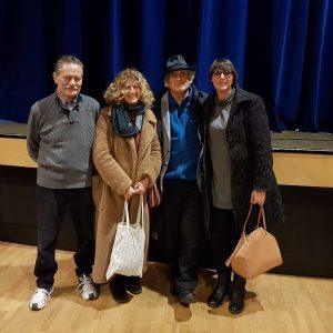 Lo staff con Angela Finocchiaro e Stefano Benni 13/12/17