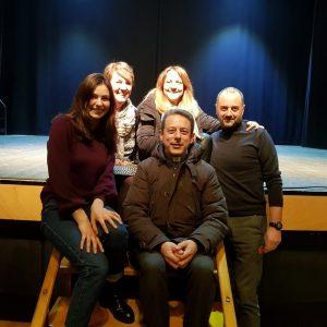 Lo staff con Debora Villa 11/01/2018