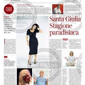 Corriere della Sera 14 settembre presentazione S.Giulia