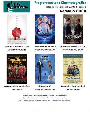cinema gennaio 2020 - Teatro Santa Giulia