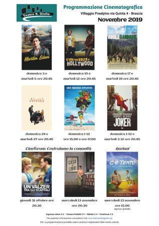 cinema novembre 2019 con cineforum - Teatro Santa Giulia web