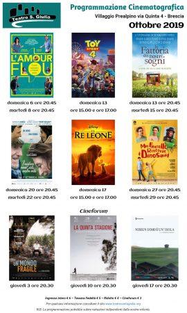 cinema ottobre 2019 con cineforum - Teatro Santa Giulia