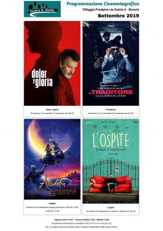cinema settembre 2019 - Teatro santa Giulia